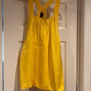 Yellow Theory razorback sleeveless shirt